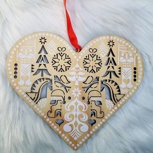 Nordstrom Scandanavian Heart Christmas Ornament
